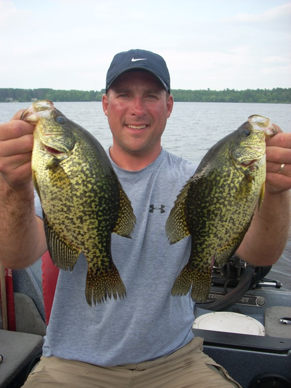 Crappie fishing guides in wisconsin hayward wi crappie for Lake wisconsin fishing